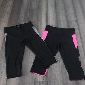 Victoria's Secret sport set of 2 Capri pants